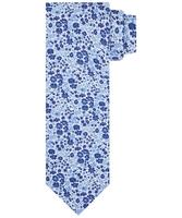 Granatowy krawat z kwiatowym wzorem profuomo