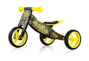 Milly mally jake army drewniany rowerek biegowy 2w1 + prezent 3d