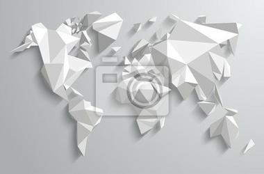Naklejka trójkąt-świat mapami