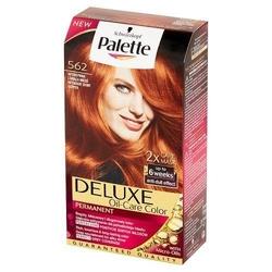 Deluxe oil-care color farba do włosów trwale koloryzująca z mikroolejkami 562 intensywna lśniąca miedź