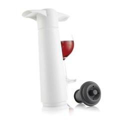 Pompka próżniowa do wina z korkami Wine Saver biała