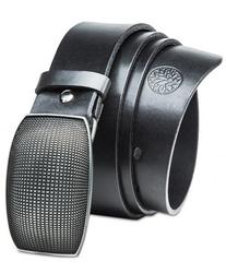 Pasek skórzany betlewski lic40-pk-1 pełna klamra w pudełku - czarny