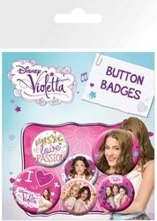 Violetta - Wioletta - przypinki