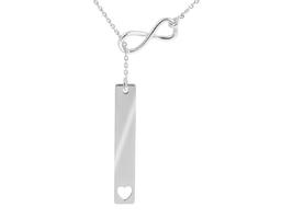Srebrny naszyjnik pr. 925 krawatka nieskończoność prezent