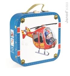 Puzzle 4w1 helikopter piotrka, janod