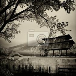 Obraz projekt chińskiego malarstwa tuszem adv lub innych celów stosowania