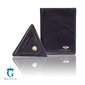 Skórzany cienki portfel peterson z bilonówką - czarny lub nubuk