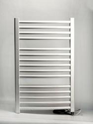 Grzejnik łazienkowy wetherby - elektryczny, wykończenie zaokrąglone, 400x800, białyral - paleta ral
