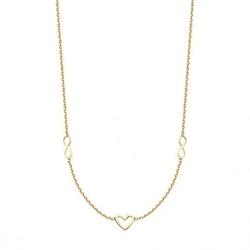 Staviori naszyjnik serce i nieskończoność złoty 0,585. długość regulowana 45cm lub 42cm