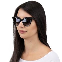 Okulary przeciwsłoneczne kocie oko damskie czarne
