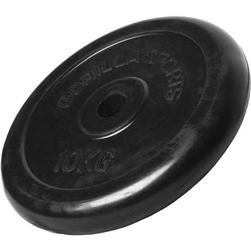 10 kg Obciążenie żeliwne gumowane talerz 30 mm Gorilla Sports