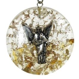 Orgonit - archanioł uriel, kryształ górski, cytryn wisior