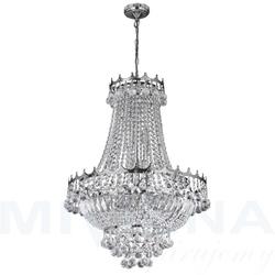 Versailles lampa wisząca 9 chrom kryształ