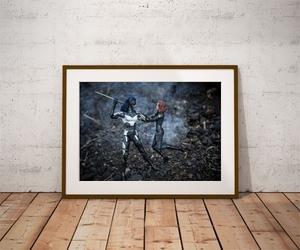 Proxima midnight  vs black widow - plakat wymiar do wyboru: 29,7x21 cm