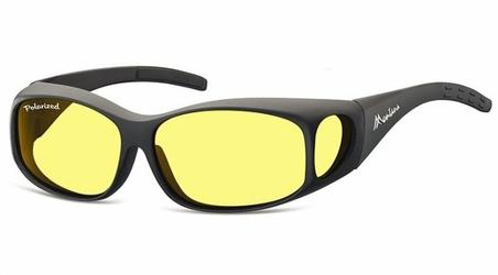 Żółte Okulary z Polaryzacją HD Fit Over dla Kierowców, na Okulary Korekcyjne MFO1F