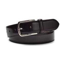 Elegancki ciemno bordowy skórzany pasek męski do spodni 105