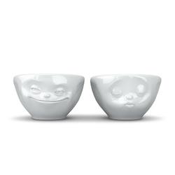 58products - zestaw 2 małych miseczek - uśmiechnięta i całująca buźka
