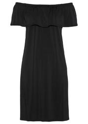 Sukienka z dekoltem carmen bonprix czarny