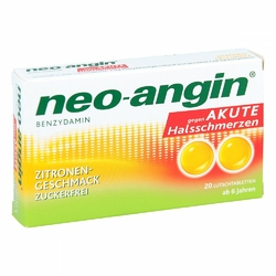 Neo Angin Benzydamin akute Halsschmerzen Zitrone