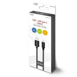 Elmak Kabel USB - USB typ C 2.1A, 2m SAVIO CL-129