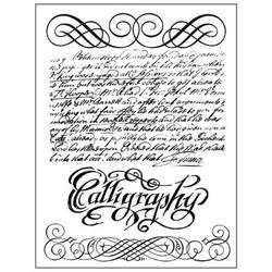 Zestaw kauczukowych stempli 14x18 cm - calligraphy - 118