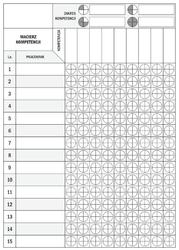 Tablica suchościeralna lean macierz kompetencji 078
