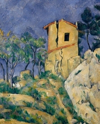 The house with the cracked walls, paul cézanne - plakat