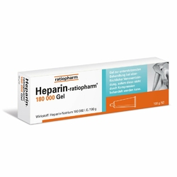 Heparin Ratiopharm 180000 żel