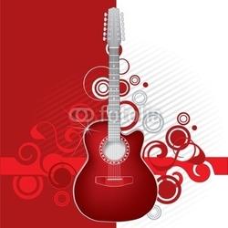 Obraz na płótnie canvas czerwona gitara