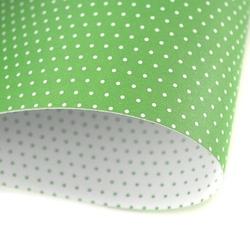 Papier ozdobny w kropki 300g 24x34 cm zielony - ziel