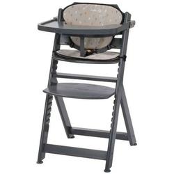 Safety 1st timba warm grey drewniane krzesełko z wkładką + puzzle