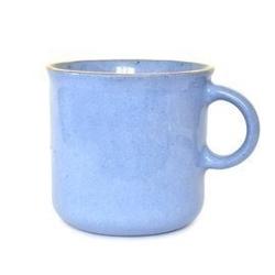 Majolika nieborów :: kubek z uchem duży niebieski wys. 8,5 cm
