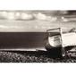 Plaża, łódka - reprodukcja