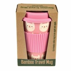 Kubek bambusowy podróżny 400 ml, Kotek Cookie, Rex London - kotek cookie