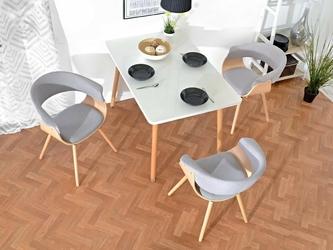 Krzesło tapicerowane beau nowoczesne dąb
