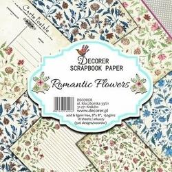 Papier scrapbookingowy 20,3x20,3 cm Romantic Flowers 18 szt.