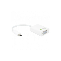 Techly Adapter USB-C 3.1 na VGA MŻ, biały