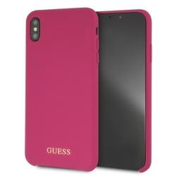 GUESS Etui hardcase GUHCI65LSGLPI iPhone Xs Max Silicone różowy