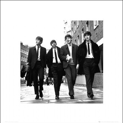 The Beatles w Londynie - plakat premium