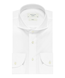 Elegancka biała koszula męska profuomo slim fit z egipskiej bawełny giza 42
