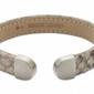 Bransoletka magnetyczna skóra brązowo beżowa 2502-1 stal szlachetna
