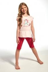 Piżama dziewczęca cornette  24160 kids unique różowy