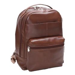 Skórzany męski plecak na laptopa mcklein parker 88554 brązowy - brązowy