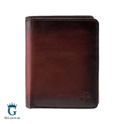 Pojemny portfel męski przypalany brąz visconti at-62 rfid