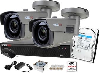Monitoring zestaw ip keeyo 1tb h265+ full hd ir 60m 2 kamery
