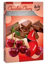 Bispol, czekolada-wiśnia, podgrzewacze zapachowe, 6 sztuk