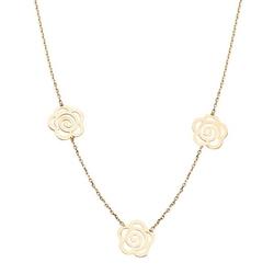 Staviori naszyjnik z żółtego złota 0,333. zawieszki trzy róże
