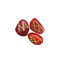Runy na czerwonym jaspisie - zestaw