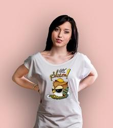 Skimbordulka t-shirt damski biały xxl