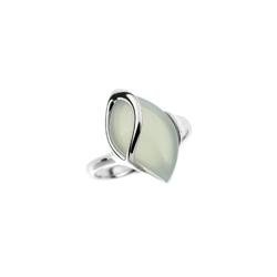 pierścionek rozmiar: 13 rodowane srebro 925 i agat